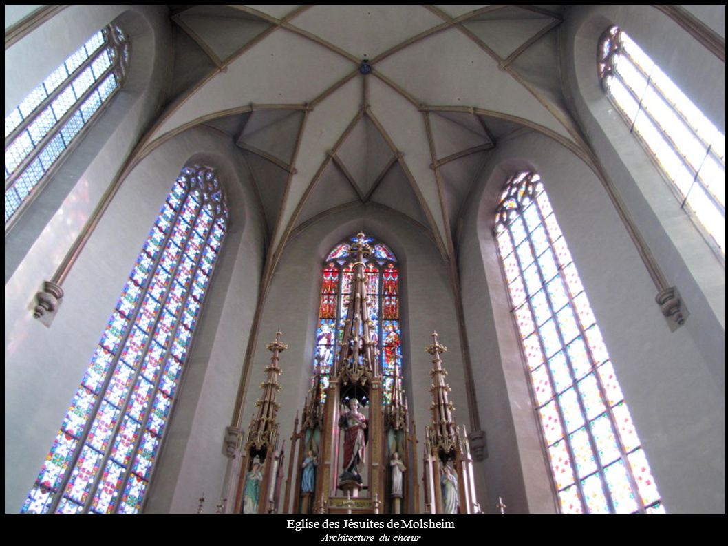 Eglise des Jésuites de Molsheim Architecture du chœur