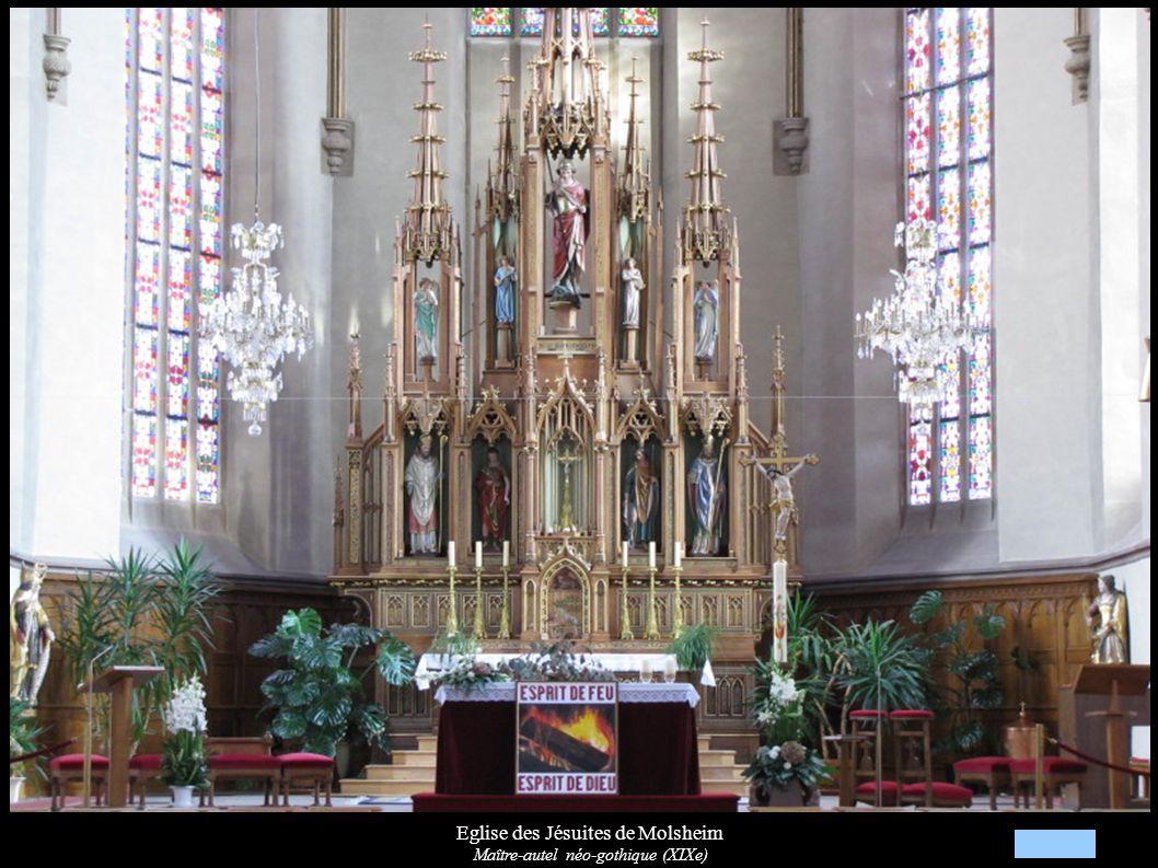 Eglise des Jésuites de Molsheim Maître-autel néo-gothique (XIXe)