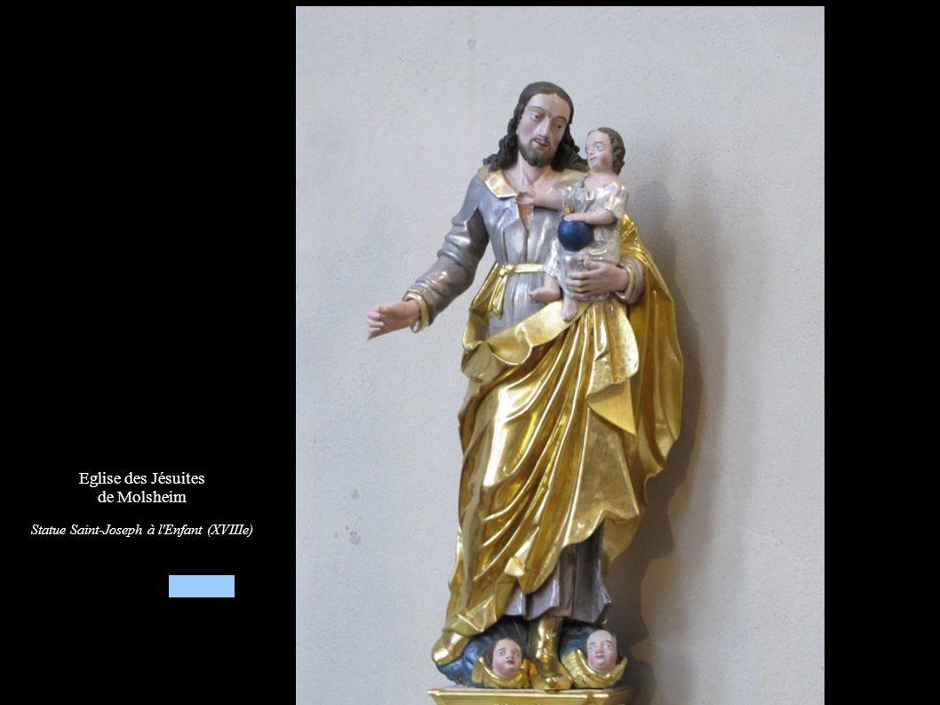 Eglise des Jésuites de Molsheim Statue Saint-Joseph à l'Enfant (XVIIIe)