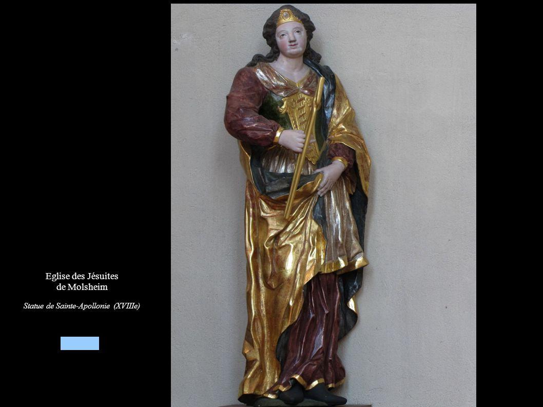 Eglise des Jésuites de Molsheim Statue de Sainte-Apollonie (XVIIIe)