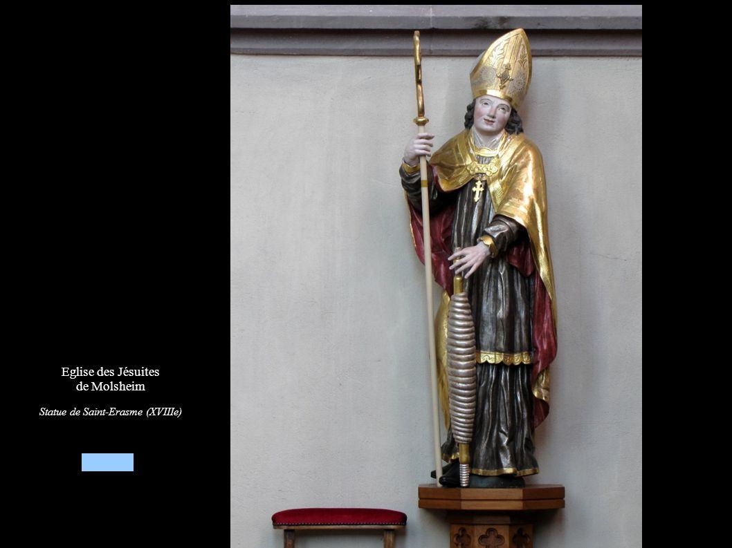Eglise des Jésuites de Molsheim Statue de Saint-Erasme (XVIIIe)