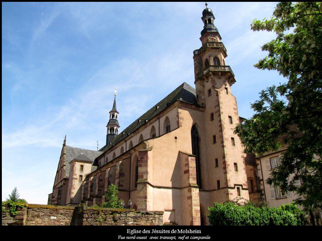 Eglise des Jésuites de Molsheim Vue nord-ouest avec transept, nef et campanile