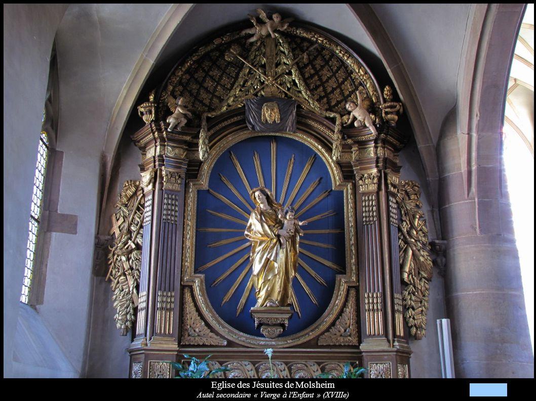 Eglise des Jésuites de Molsheim Autel secondaire « Vierge à l'Enfant » (XVIIIe)