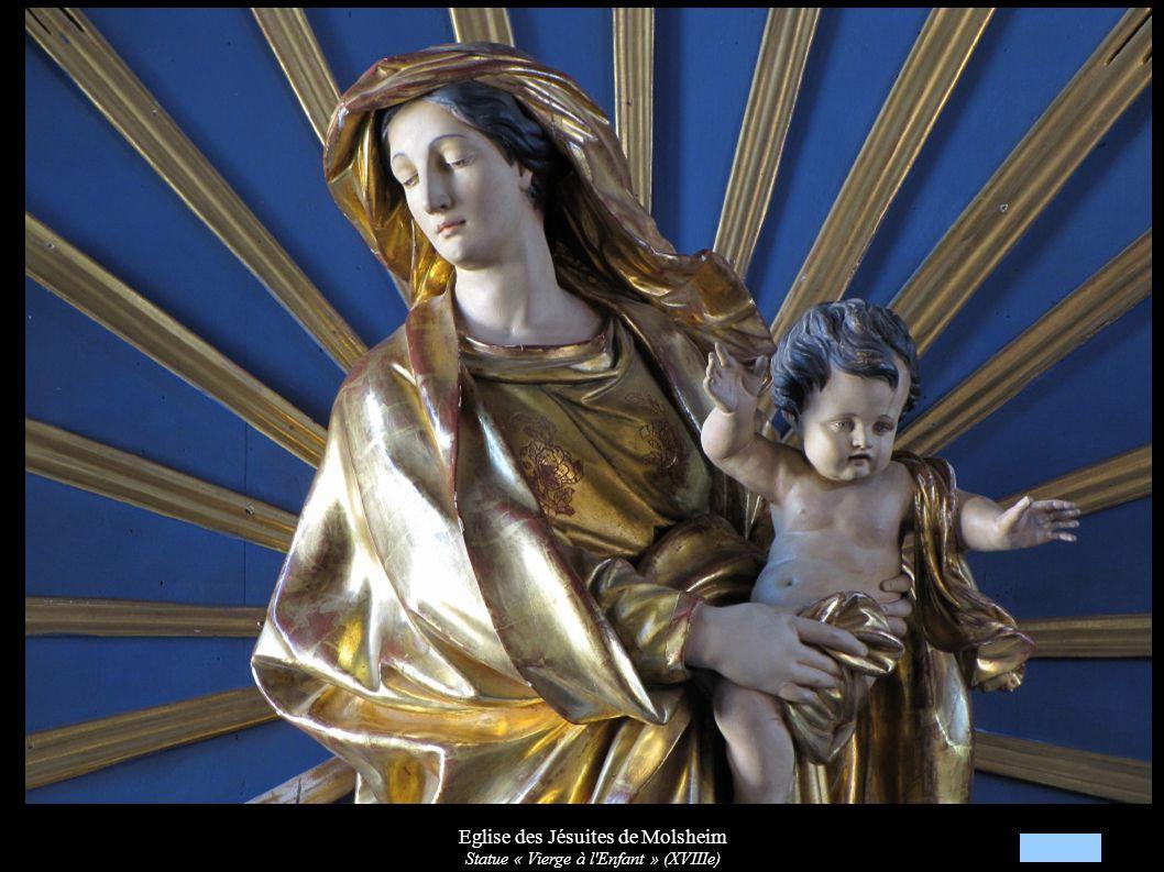 Eglise des Jésuites de Molsheim Statue « Vierge à l'Enfant » (XVIIIe)