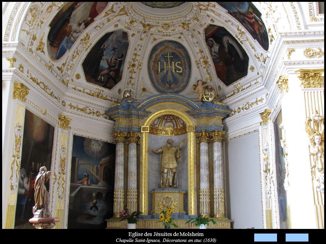 Eglise des Jésuites de Molsheim Chapelle Saint-Ignace, Décorations en stuc (1630)