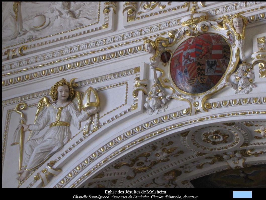 Eglise des Jésuites de Molsheim Chapelle Saint-Ignace, Armoiries de l'Archiduc Charles d'Autriche, donateur