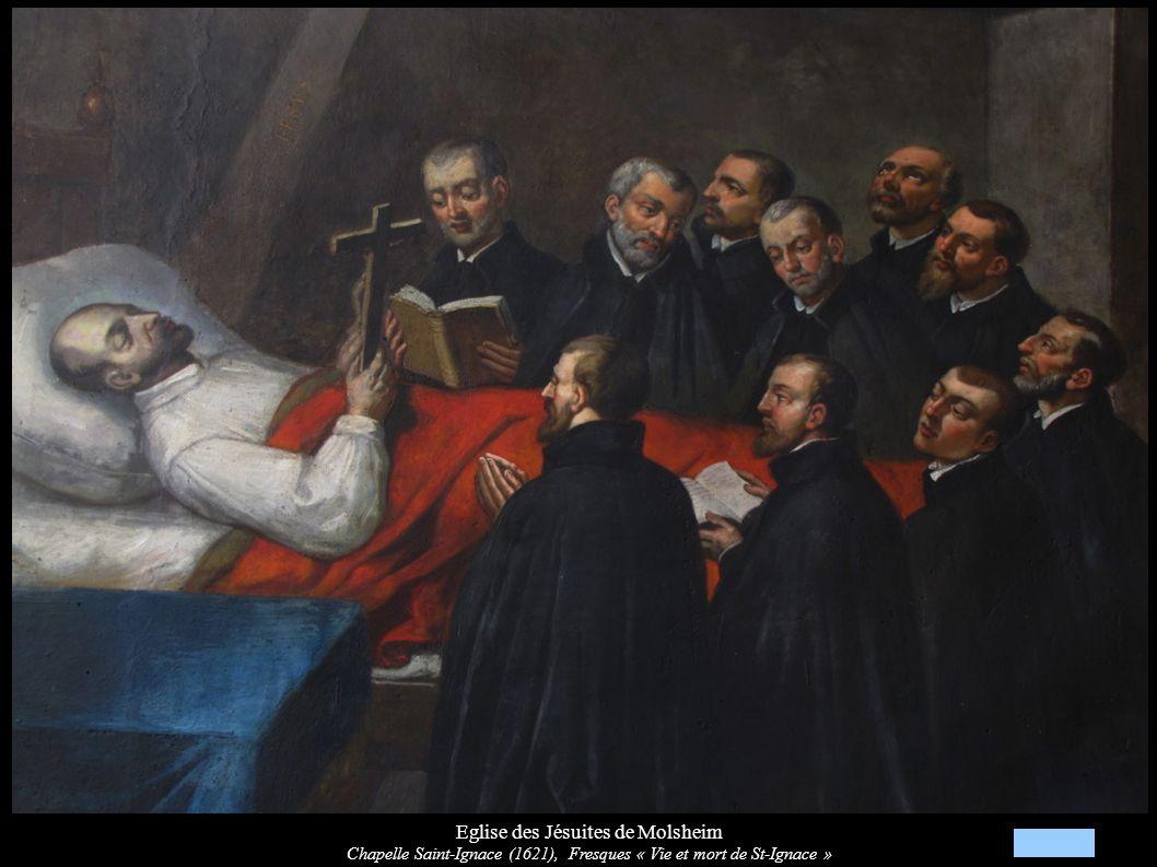 Eglise des Jésuites de Molsheim Chapelle Saint-Ignace (1621), Fresques « Vie et mort de St-Ignace »