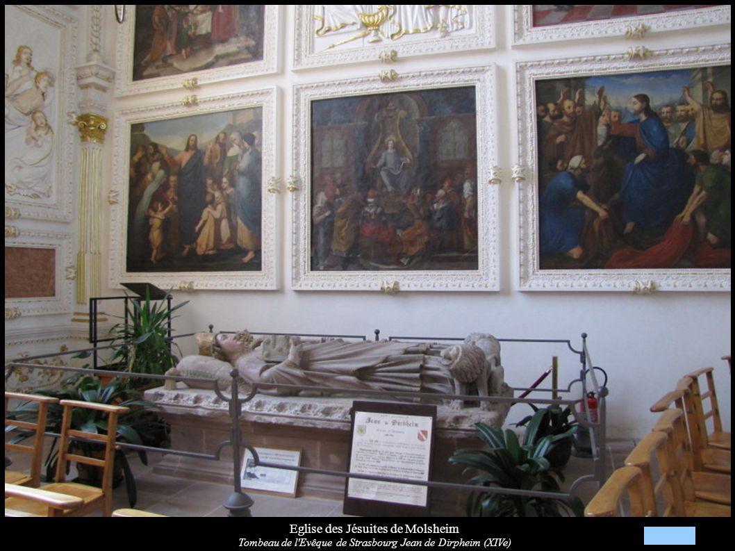 Eglise des Jésuites de Molsheim Tombeau de l'Evêque de Strasbourg Jean de Dirpheim (XIVe)