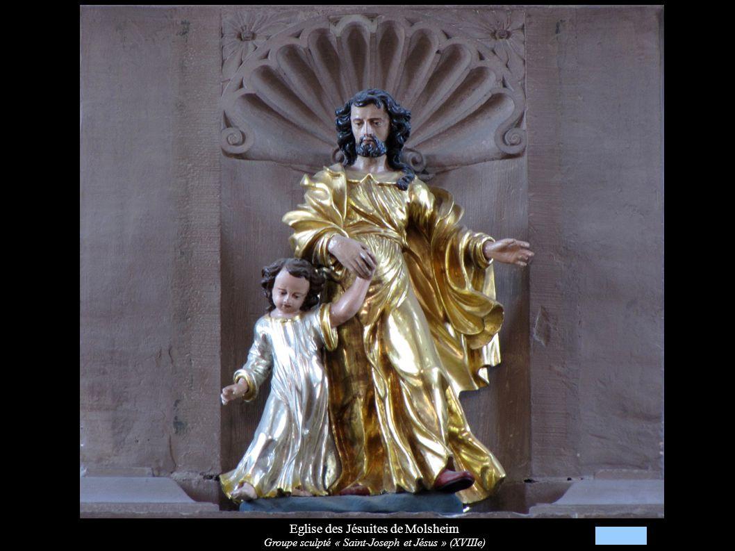 Eglise des Jésuites de Molsheim Groupe sculpté « Saint-Joseph et Jésus » (XVIIIe)