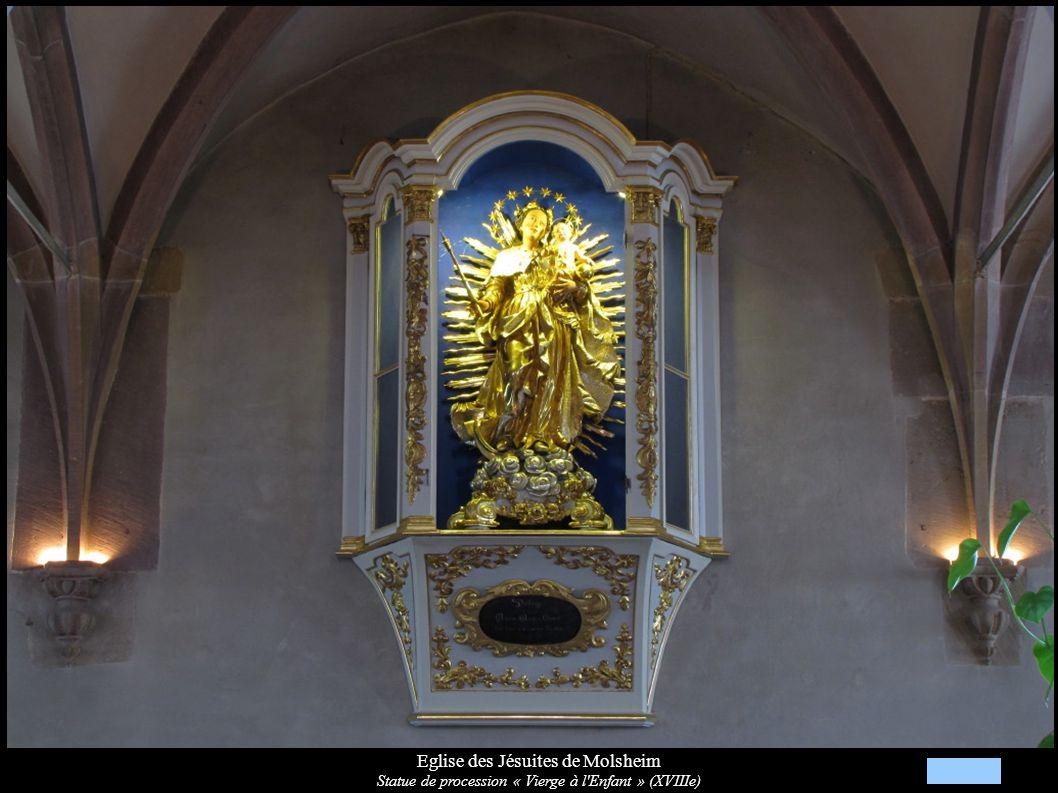 Eglise des Jésuites de Molsheim Statue de procession « Vierge à l'Enfant » (XVIIIe)
