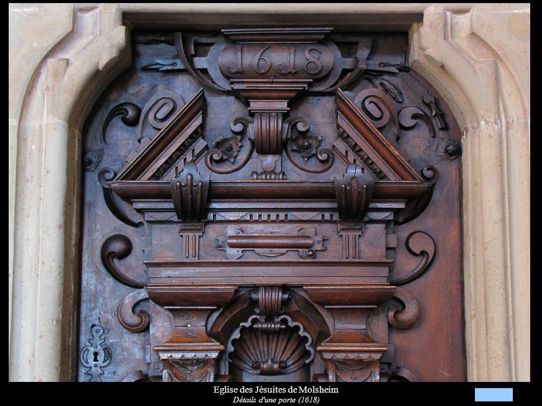Eglise des Jésuites de Molsheim Détails d'une porte (1618)