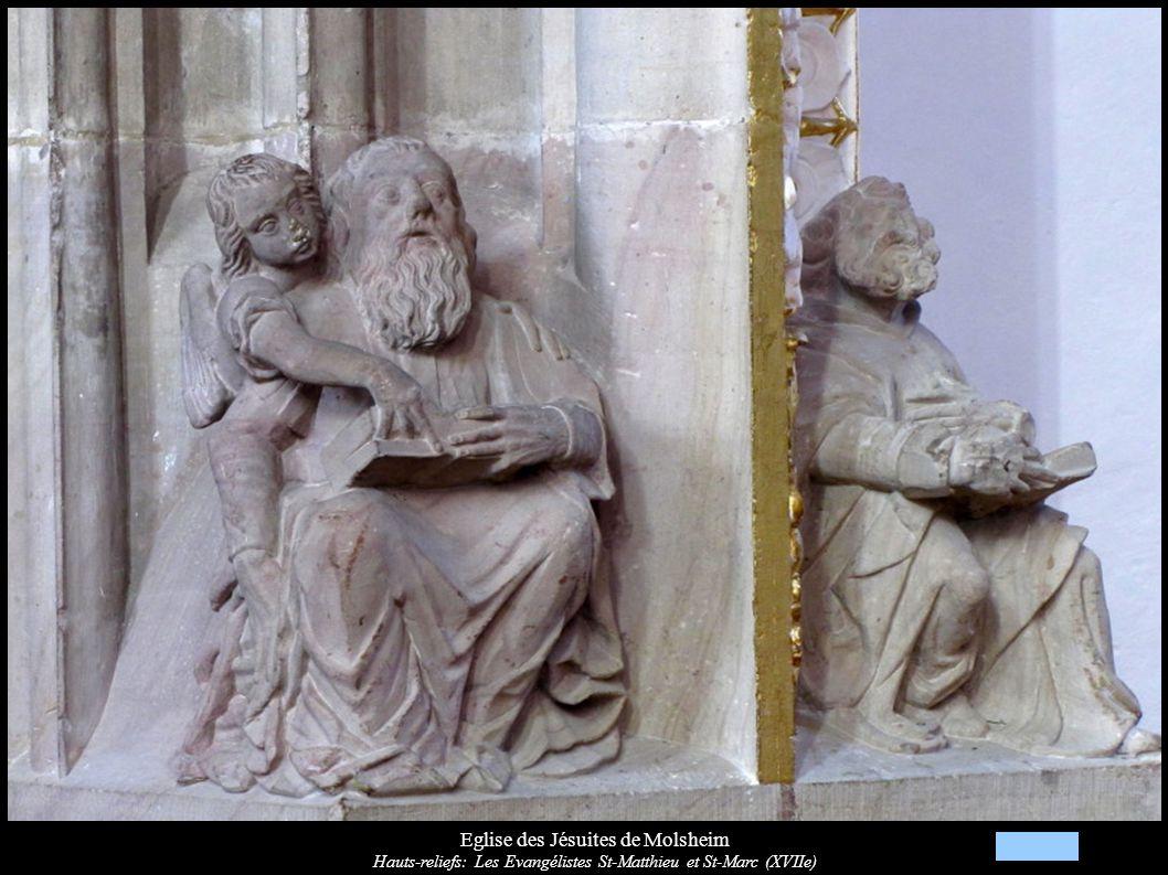 Eglise des Jésuites de Molsheim Hauts-reliefs: Les Evangélistes St-Matthieu et St-Marc (XVIIe)