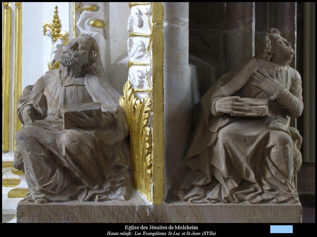 Eglise des Jésuites de Molsheim Hauts-reliefs: Les Evangélistes St-Luc et St-Jean (XVIIe)