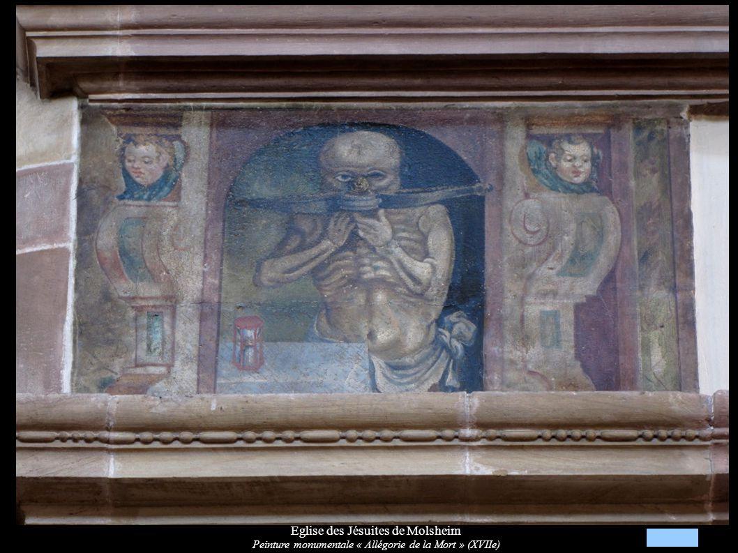 Eglise des Jésuites de Molsheim Peinture monumentale « Allégorie de la Mort » (XVIIe)