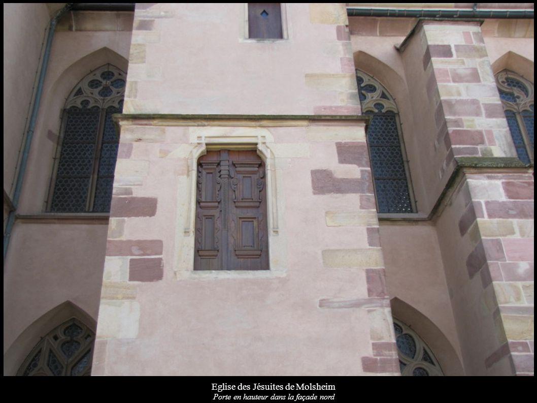 Eglise des Jésuites de Molsheim Porte en hauteur dans la façade nord