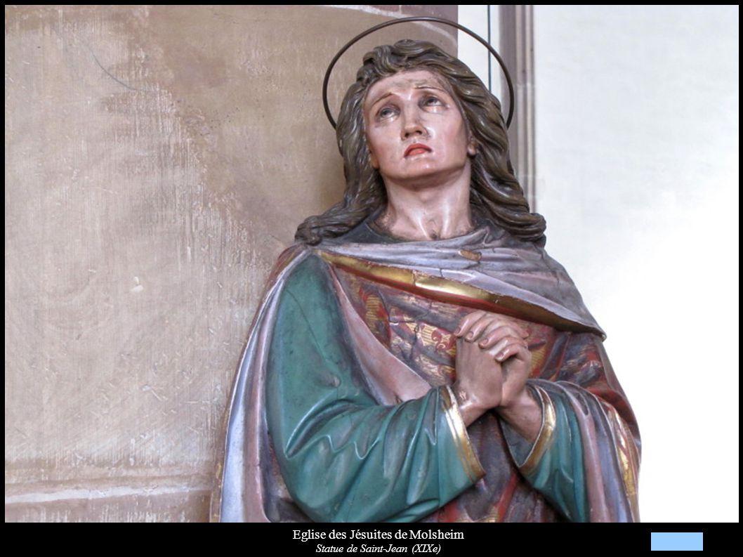 Eglise des Jésuites de Molsheim Statue de Saint-Jean (XIXe)