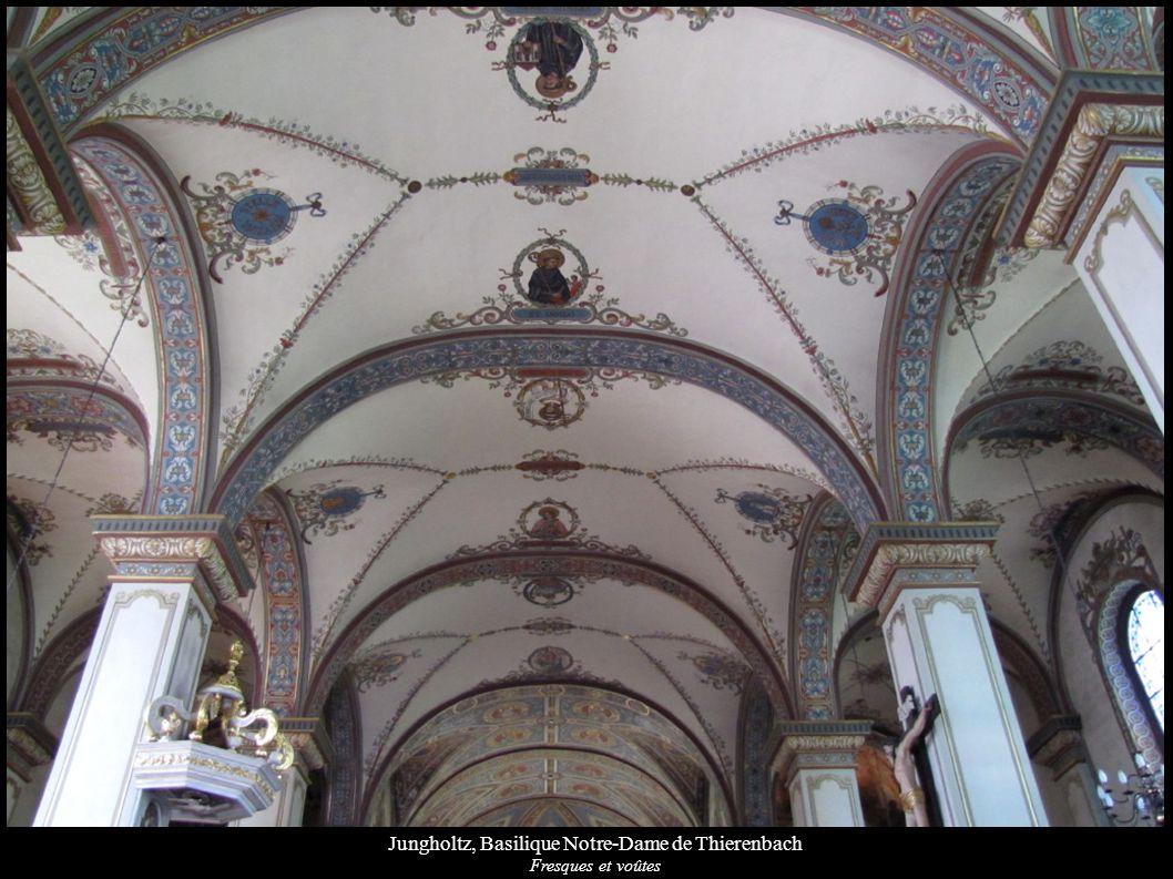 Jungholtz, Basilique Notre-Dame de Thierenbach Fresques et voûtes