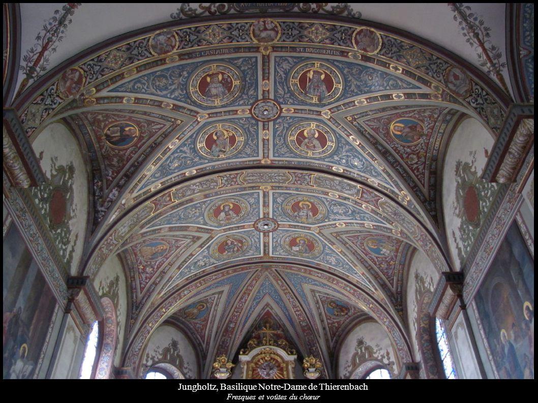 Jungholtz, Basilique Notre-Dame de Thierenbach Fresques et voûtes du chœur