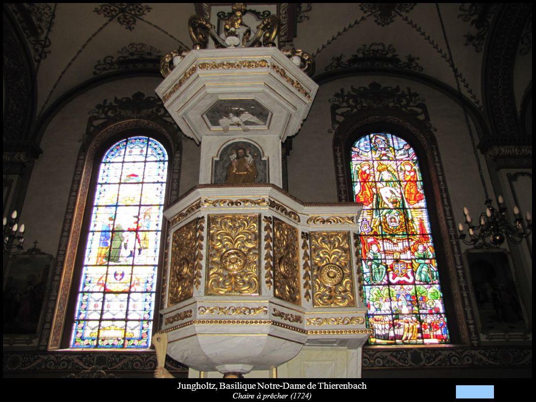 Jungholtz, Basilique Notre-Dame de Thierenbach Chaire à prêcher (1724)