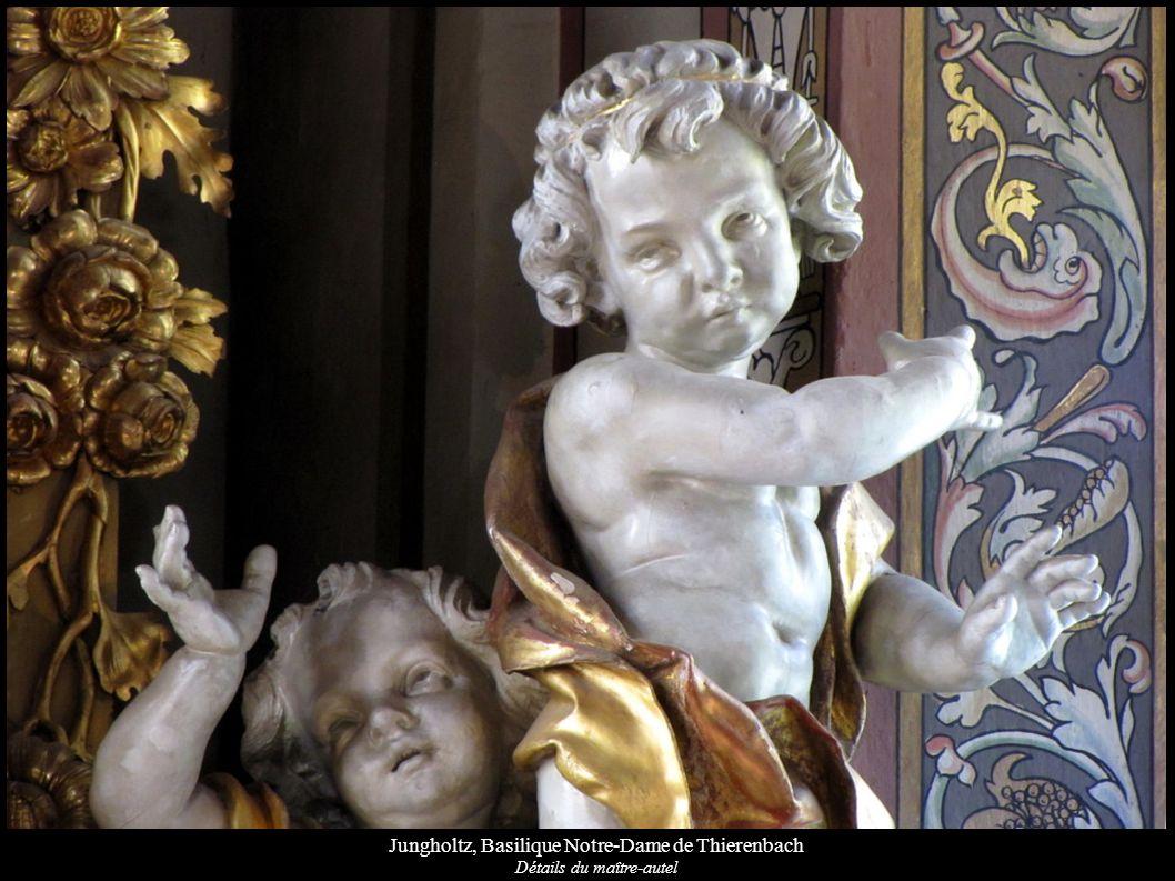 Jungholtz, Basilique Notre-Dame de Thierenbach Détails du maître-autel