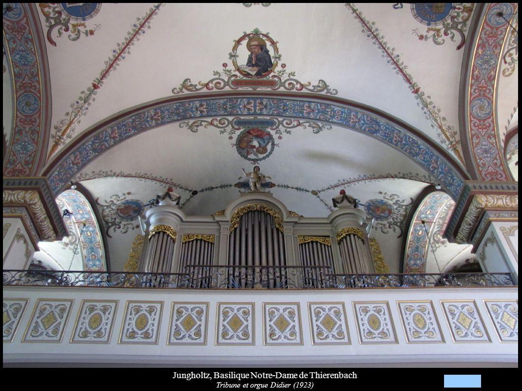Jungholtz, Basilique Notre-Dame de Thierenbach Tribune et orgue Didier (1923)
