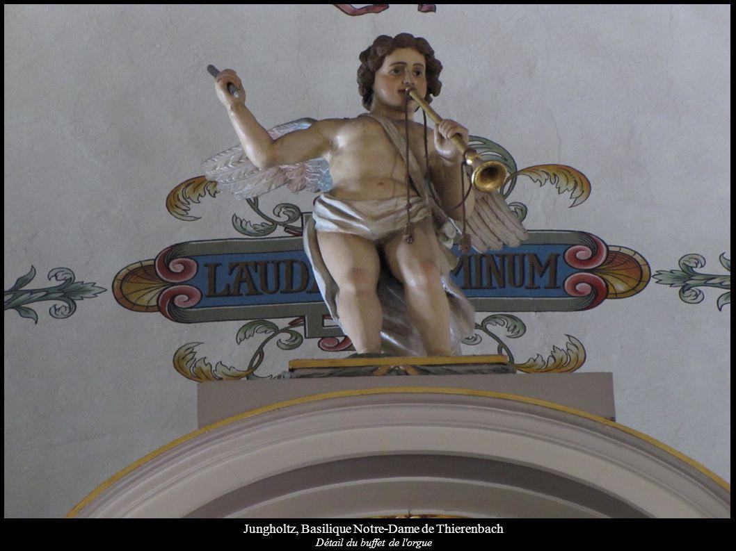 Jungholtz, Basilique Notre-Dame de Thierenbach Détail du buffet de l'orgue