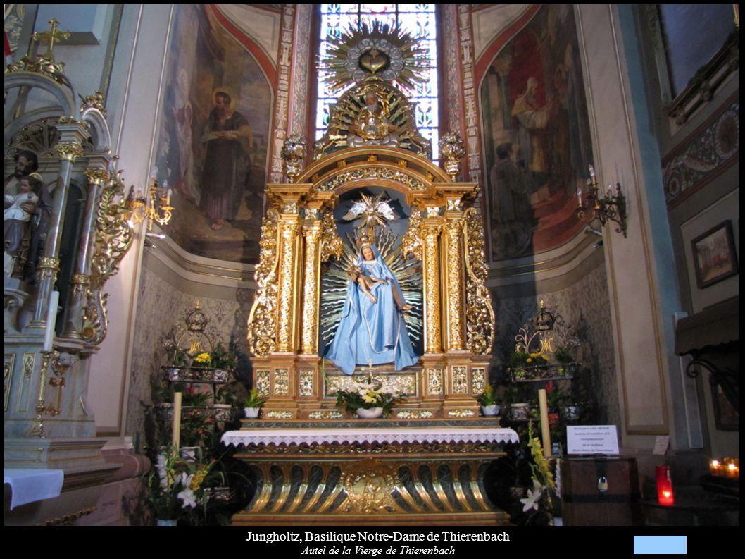 Jungholtz, Basilique Notre-Dame de Thierenbach Autel de la Vierge de Thierenbach