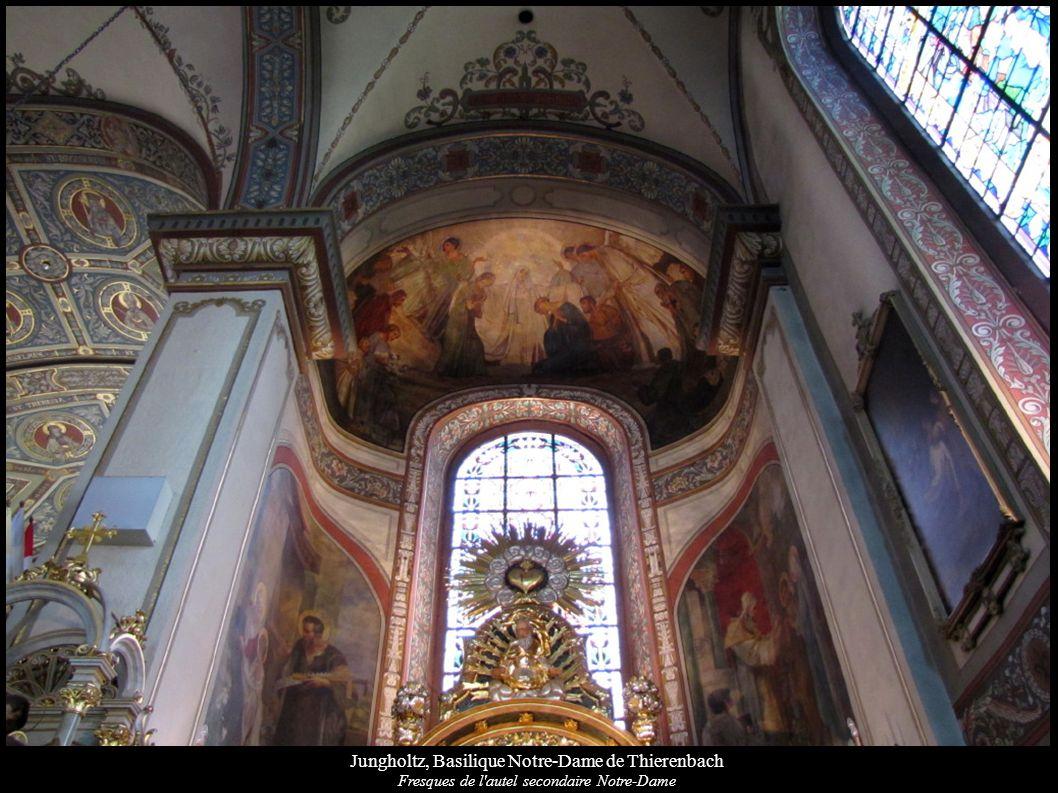 Jungholtz, Basilique Notre-Dame de Thierenbach Fresques de l'autel secondaire Notre-Dame