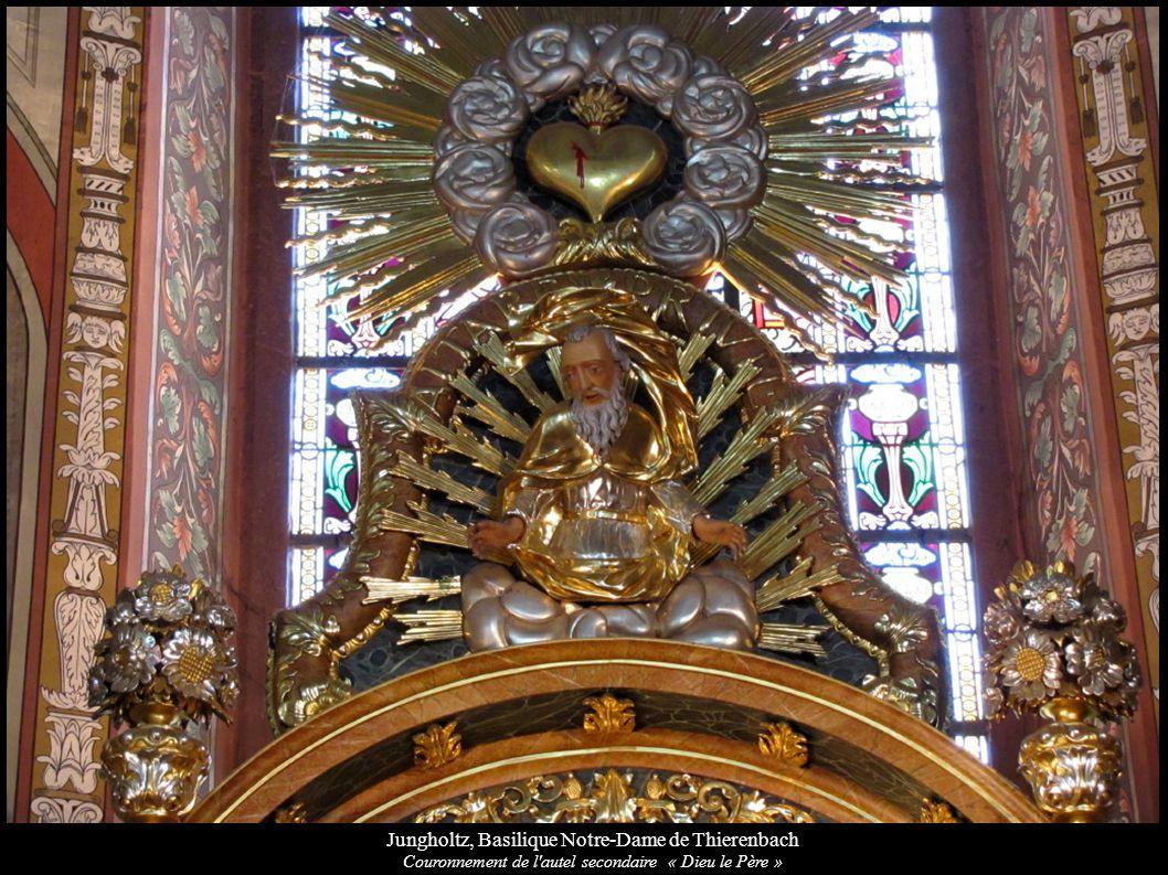 Jungholtz, Basilique Notre-Dame de Thierenbach Couronnement de l'autel secondaire « Dieu le Père »