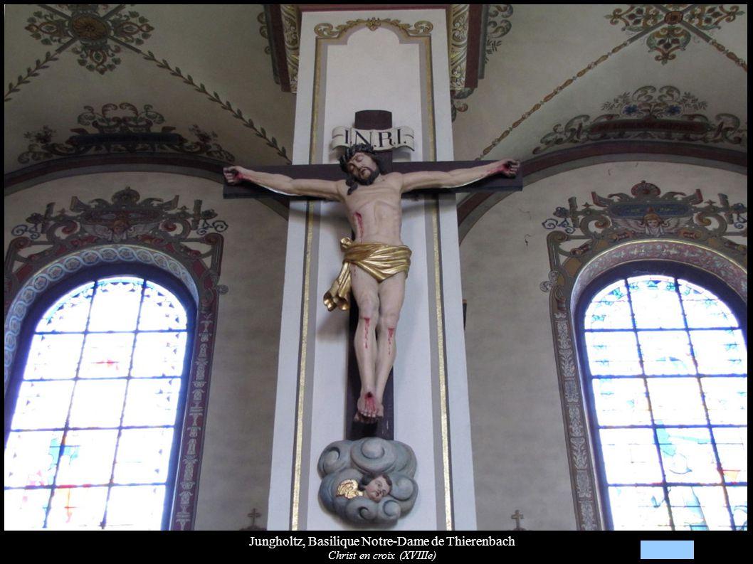 Jungholtz, Basilique Notre-Dame de Thierenbach Christ en croix (XVIIIe)
