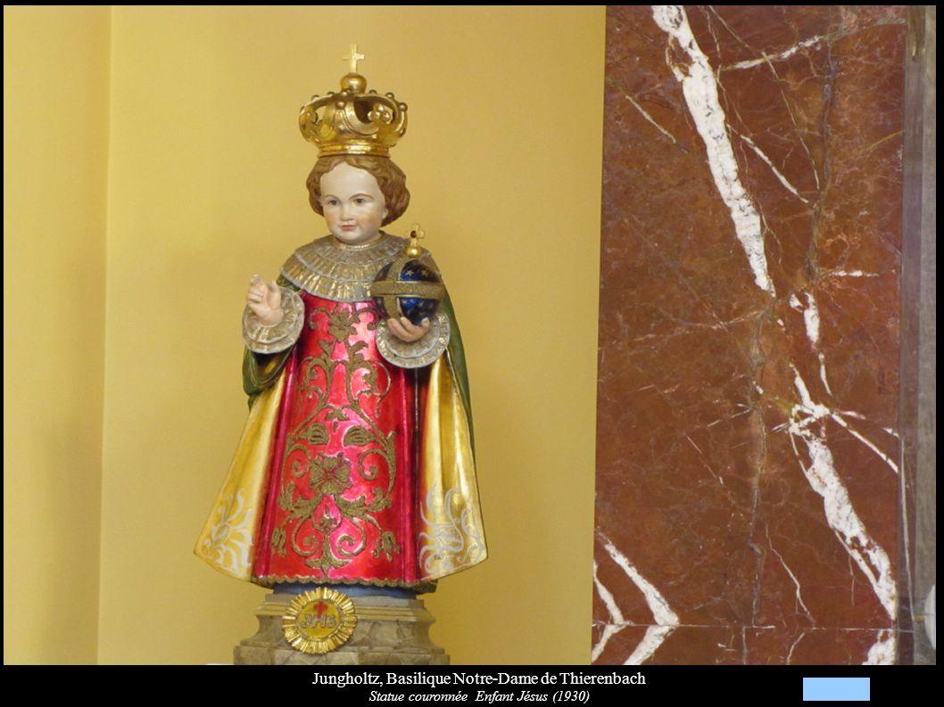 Jungholtz, Basilique Notre-Dame de Thierenbach Statue couronnée Enfant Jésus (1930)