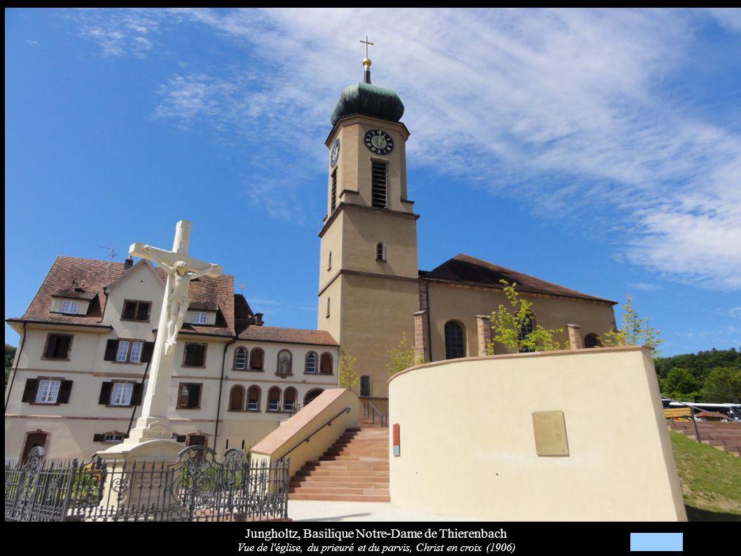 Jungholtz, Basilique Notre-Dame de Thierenbach Bancs de fidèles (XIXe)