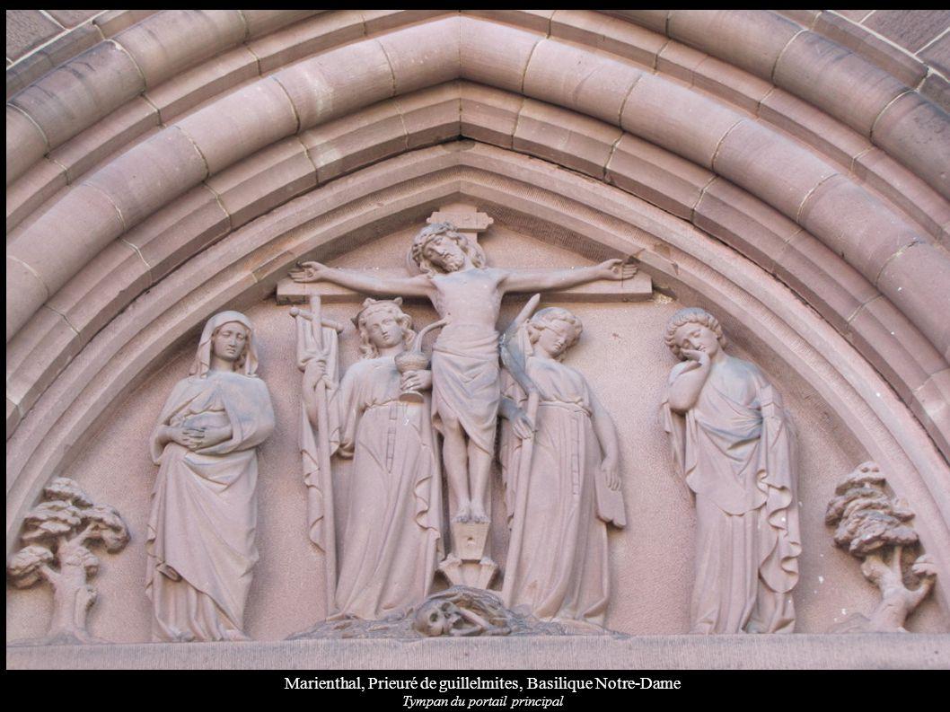 Marienthal, Prieuré de guillelmites, Basilique Notre-Dame Tympan du portail principal
