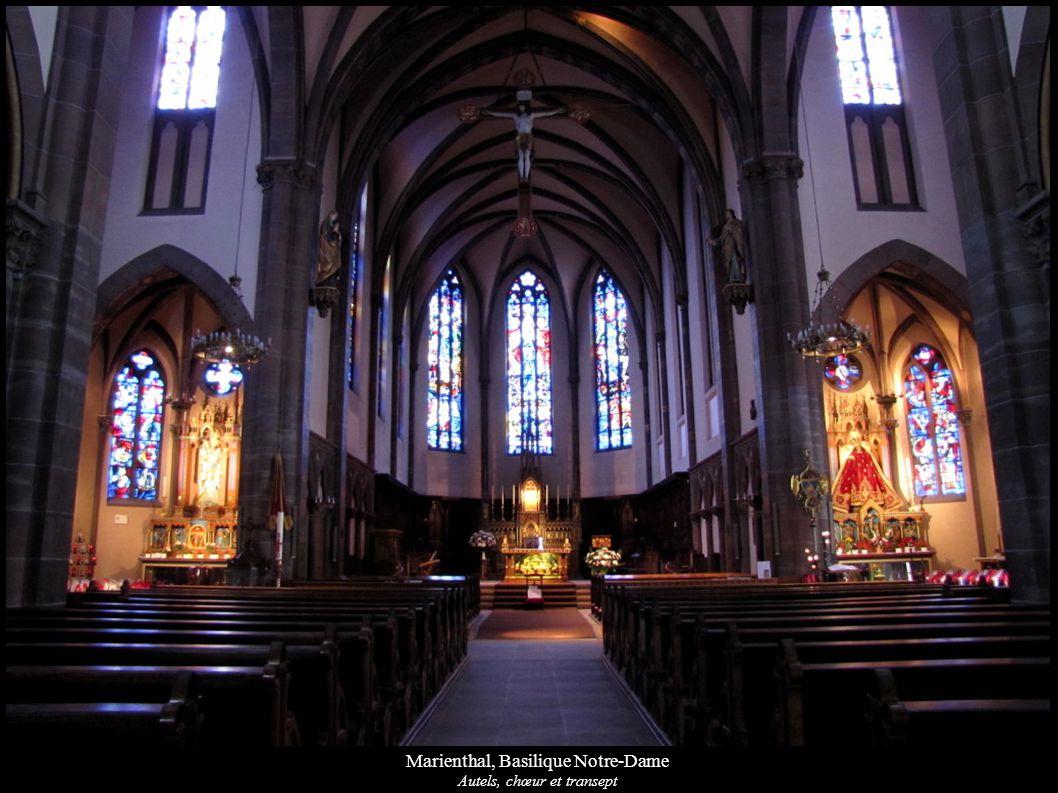 Marienthal, Basilique Notre-Dame Autels, chœur et transept
