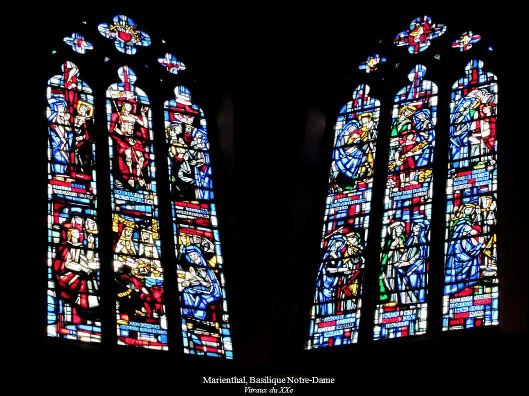 Marienthal, Basilique Notre-Dame Vitraux du XXe