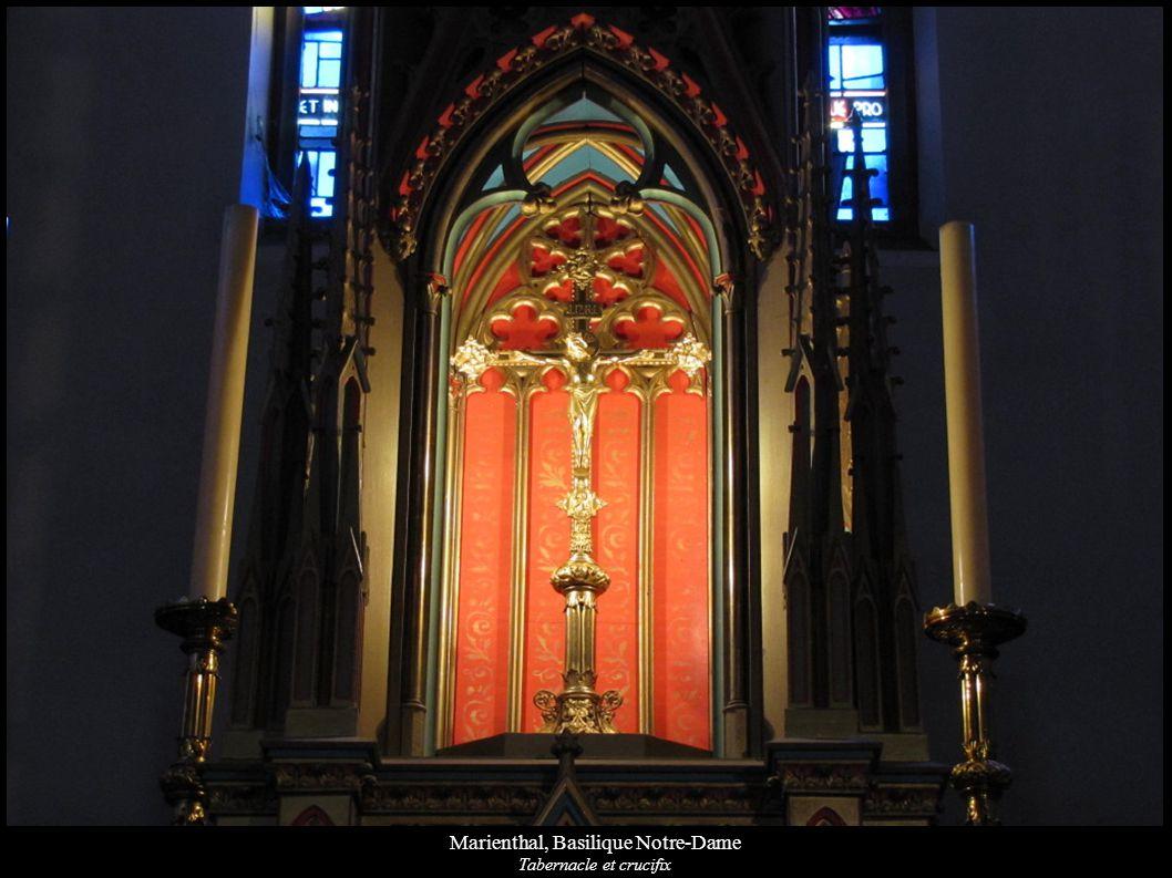 Marienthal, Basilique Notre-Dame Tabernacle et crucifix