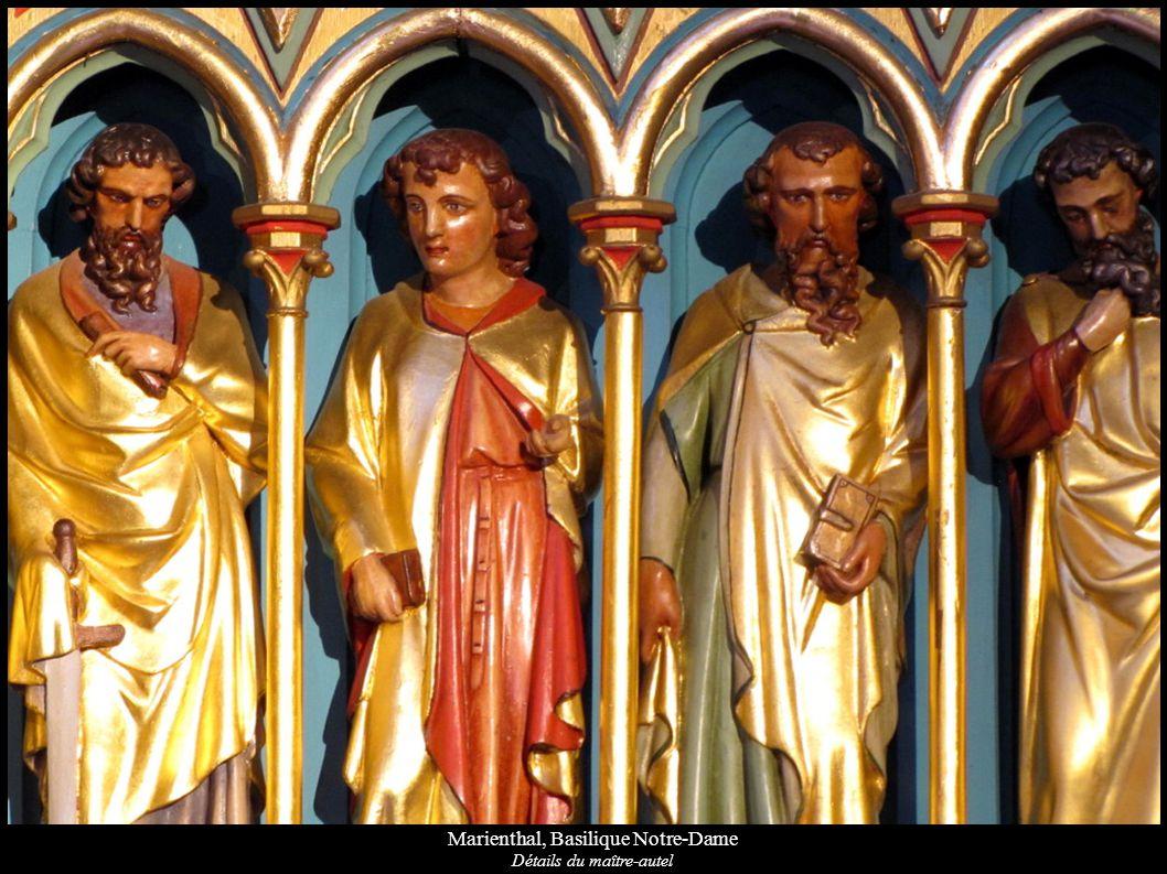 Marienthal, Basilique Notre-Dame Détails du maître-autel