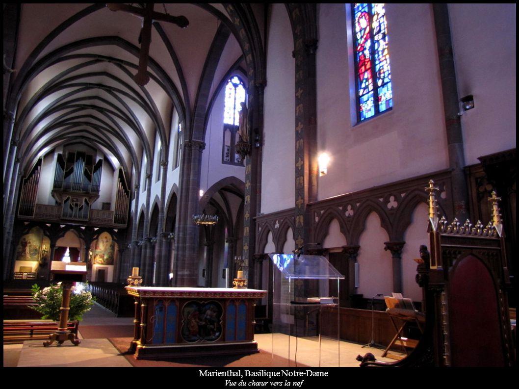 Marienthal, Basilique Notre-Dame Vue du chœur vers la nef