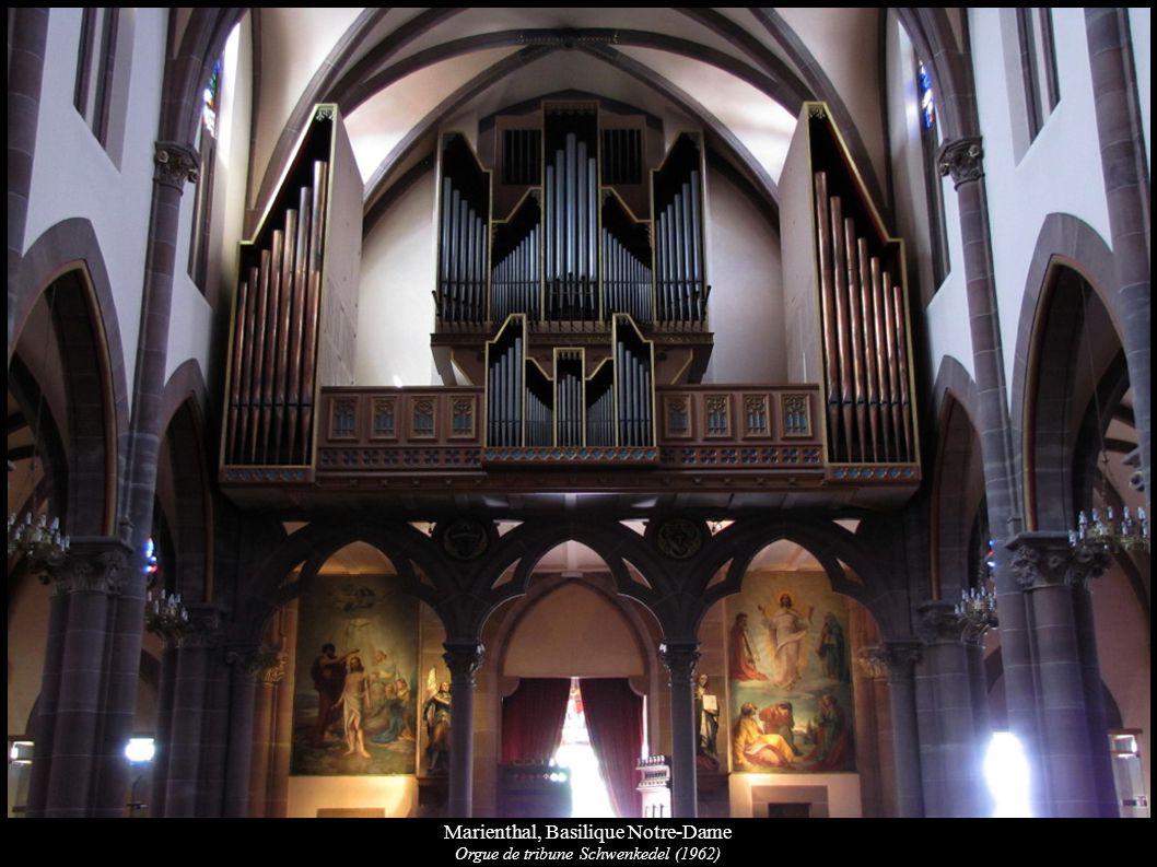Marienthal, Basilique Notre-Dame Orgue de tribune Schwenkedel (1962)