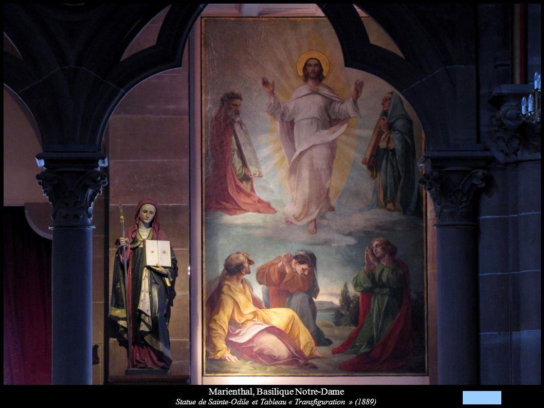 Marienthal, Basilique Notre-Dame Statue de Sainte-Odile et Tableau « Transfiguration » (1889)