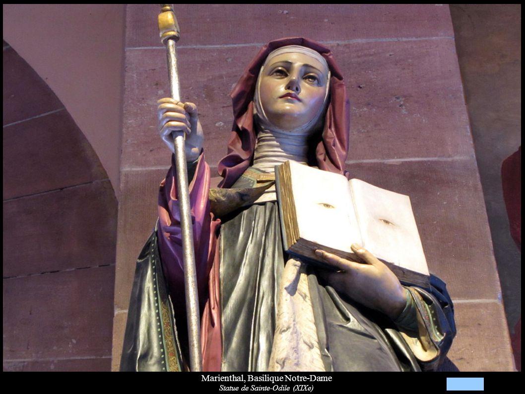 Marienthal, Basilique Notre-Dame Statue de Sainte-Odile (XIXe)