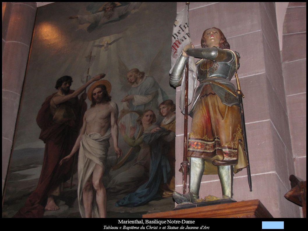 Marienthal, Basilique Notre-Dame Tableau « Baptême du Christ » et Statue de Jeanne d'Arc