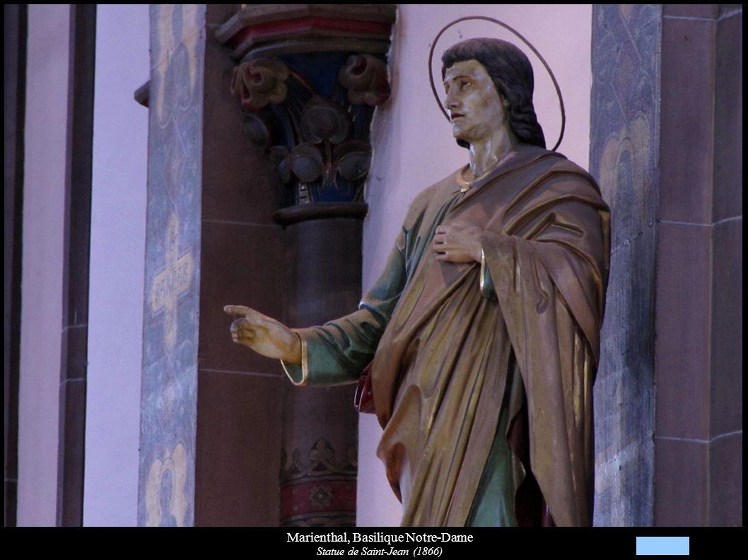 Marienthal, Basilique Notre-Dame Statue de Saint-Jean (1866)