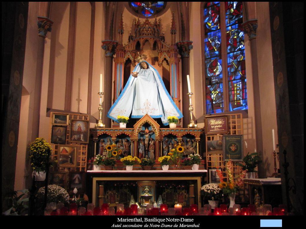 Marienthal, Basilique Notre-Dame Autel secondaire de Notre-Dame de Marienthal