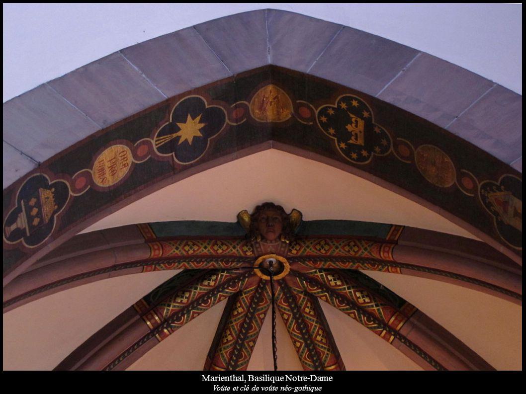 Marienthal, Basilique Notre-Dame Voûte et clé de voûte néo-gothique