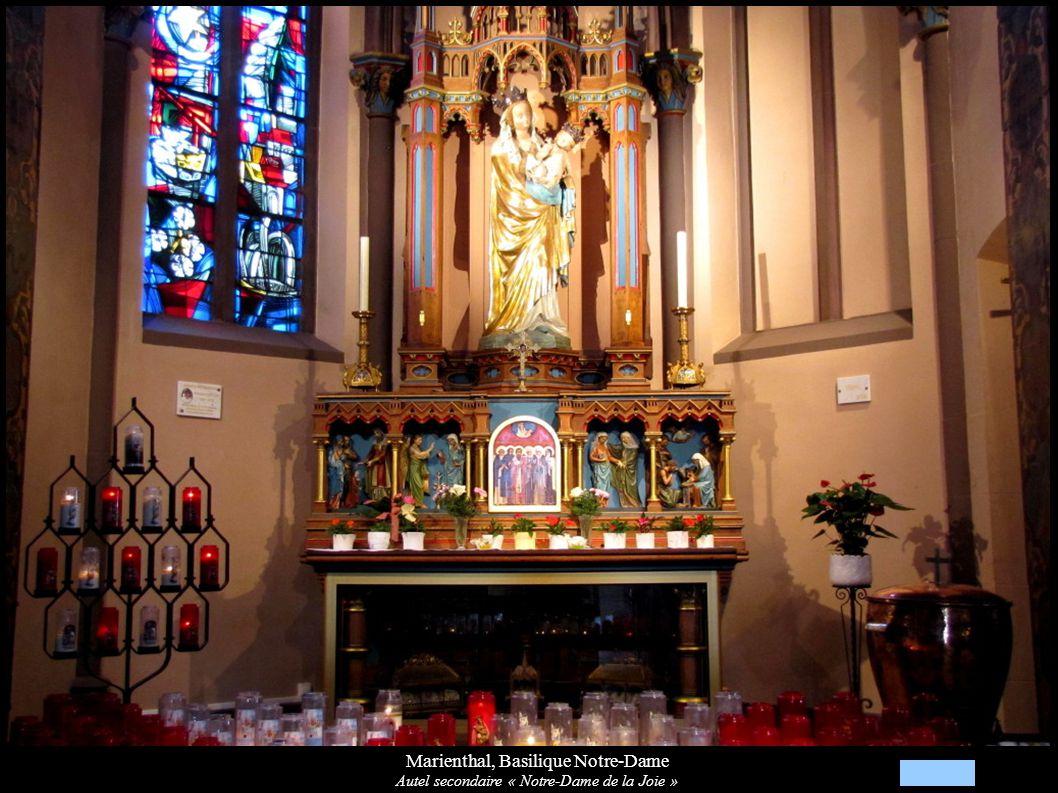 Marienthal, Basilique Notre-Dame Autel secondaire « Notre-Dame de la Joie »