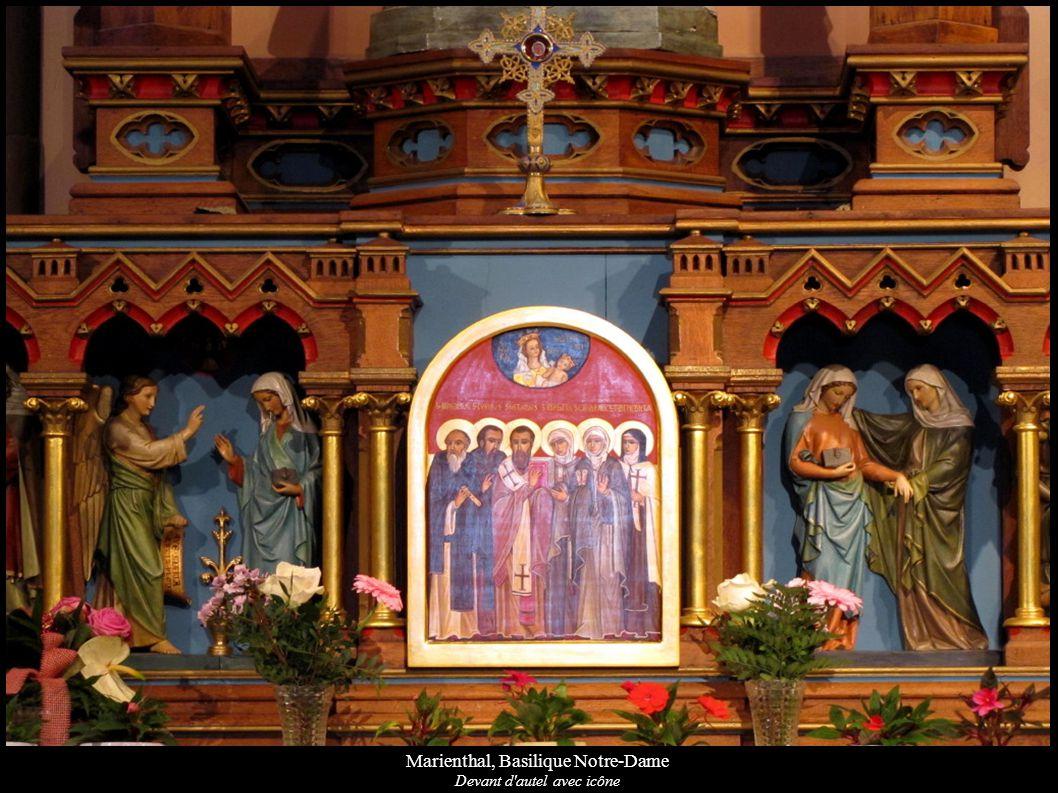 Marienthal, Basilique Notre-Dame Devant d'autel avec icône