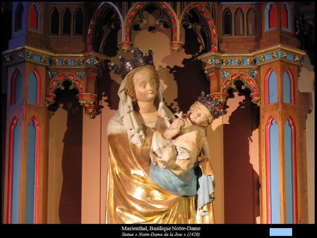 Marienthal, Basilique Notre-Dame Statue « Notre-Dame de la Joie » (1420)