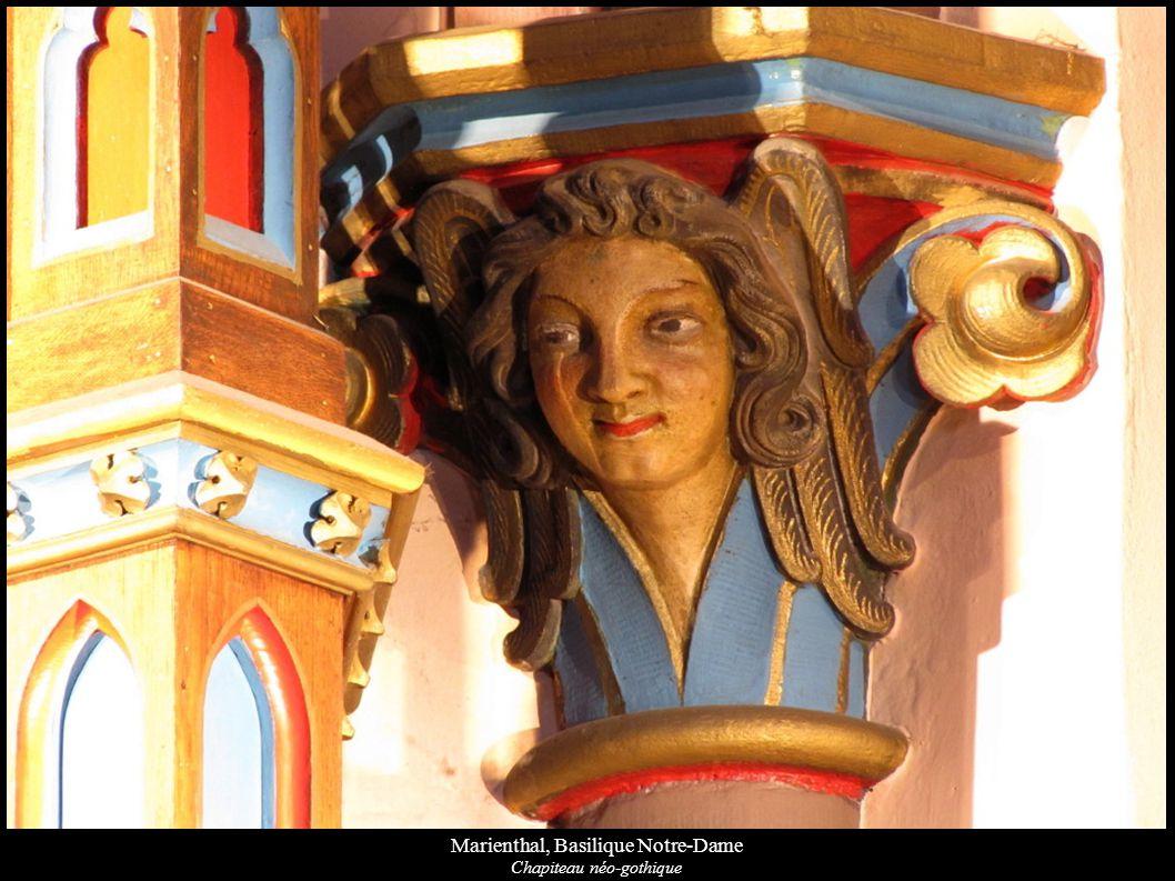 Marienthal, Basilique Notre-Dame Chapiteau néo-gothique