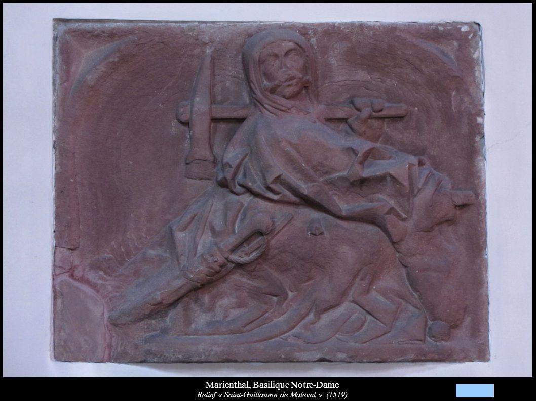 Marienthal, Basilique Notre-Dame Relief « Saint-Guillaume de Maleval » (1519)